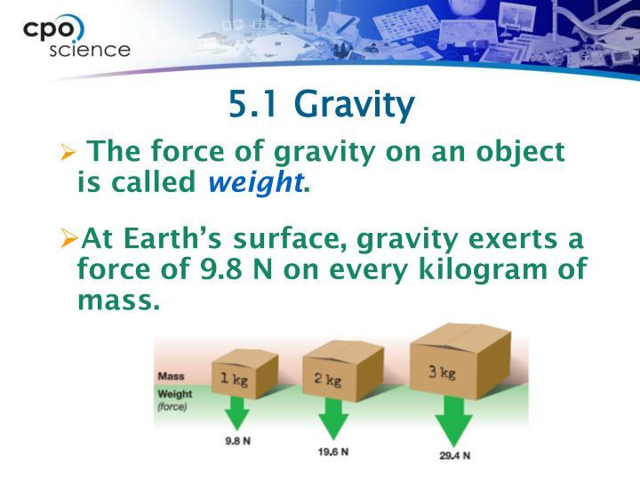 5.1 Gravity