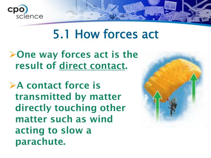 5.1 How forces act