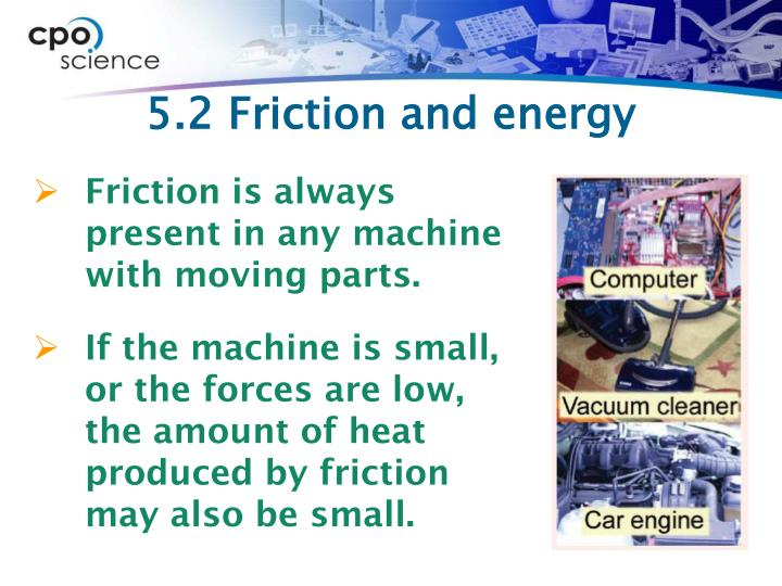 5.2 Friction and energy
