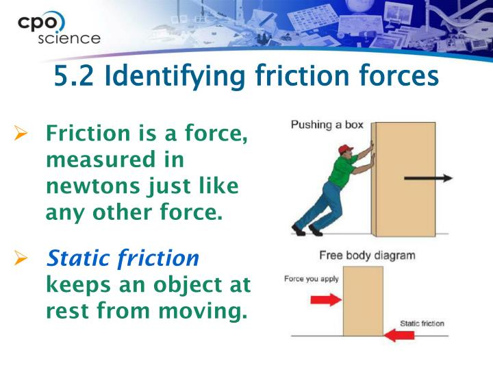 5.2 Identifying friction forces