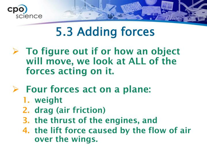 5.3 Adding forces