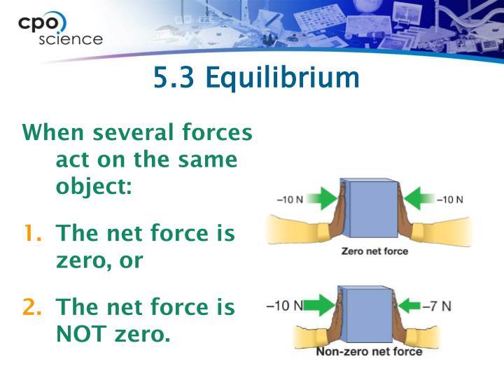 5.3 Equilibrium