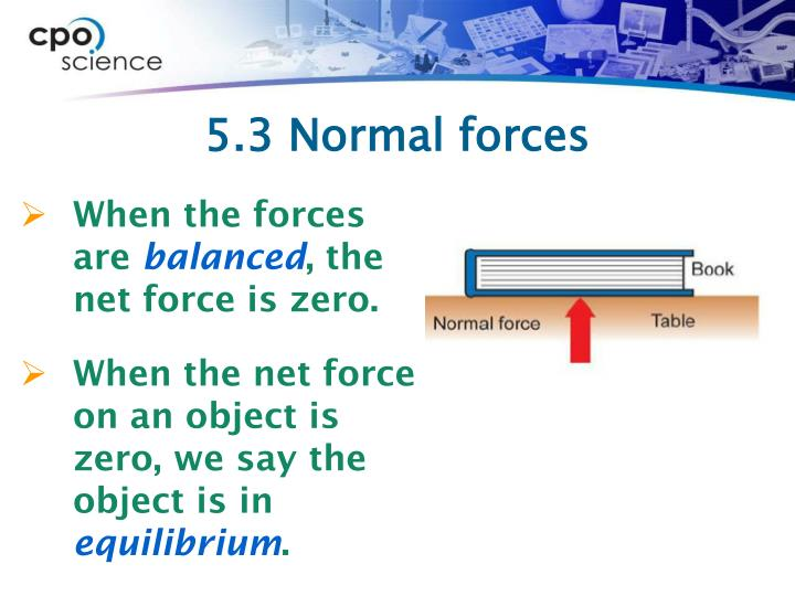 5.3 Normal forces