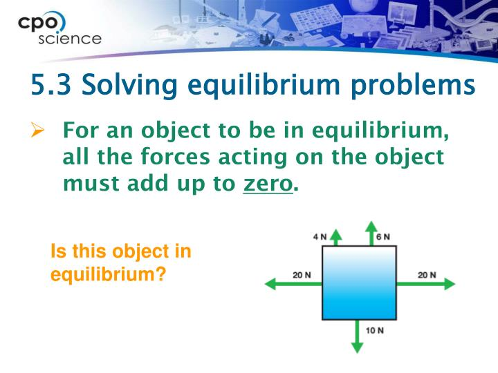 5.3 Solving equilibrium problems