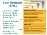 four elemental forces