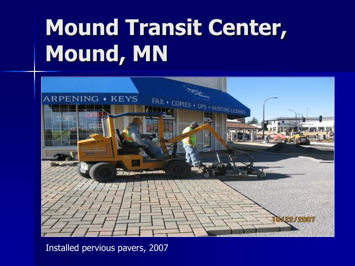 Mound Transit Center, Mound, MN