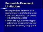 permeable pavement limitations