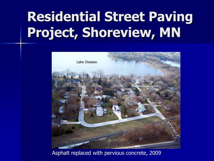 Residential Street Paving Project, Shoreview, MN
