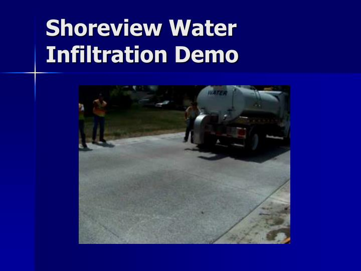 Shoreview Water Infiltration Demo