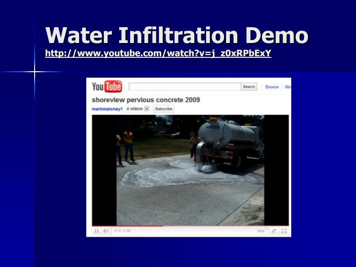 Water Infiltration Demo