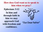 how does god want us to speak to him when we pray1