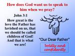 how does god want us to speak to him when we pray2