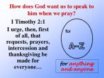 how does god want us to speak to him when we pray7