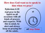 how does god want us to speak to him when we pray8