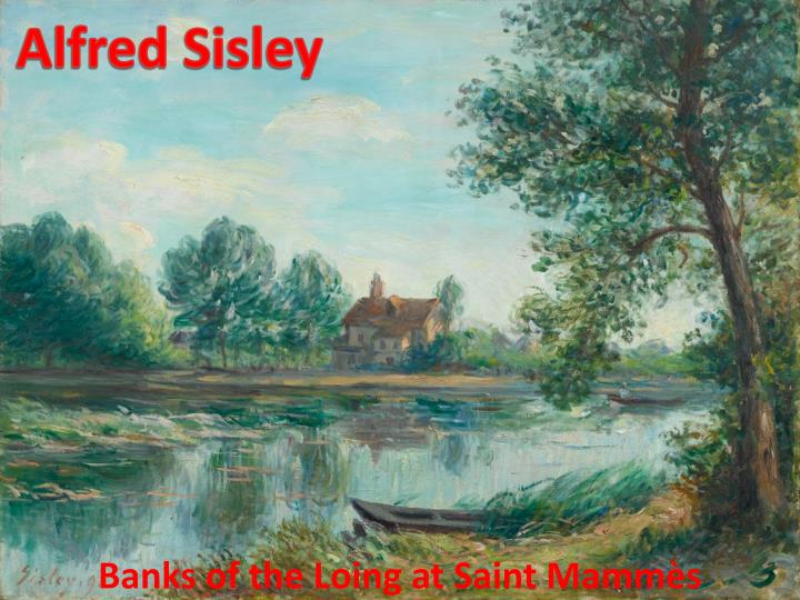 Banks of the loing at saint mamm s