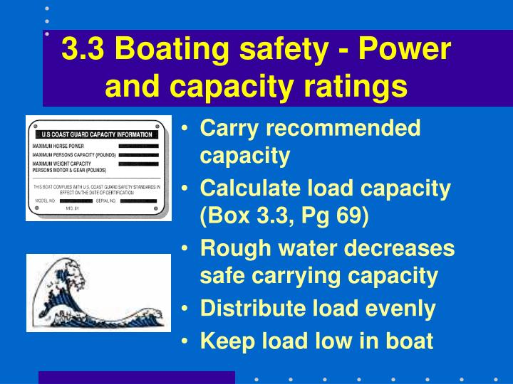 3.3 Boating safety - Power and capacity ratings