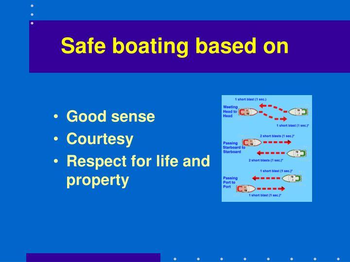 Safe boating based on