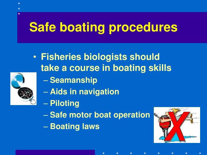 Safe boating procedures