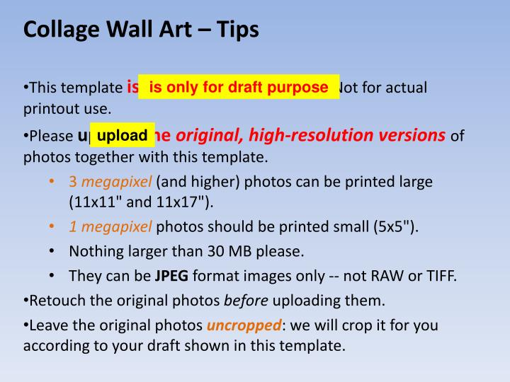Collage Wall Art – Tips