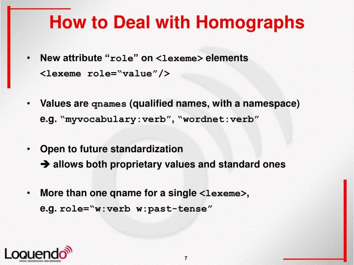 How to Deal with Homographs