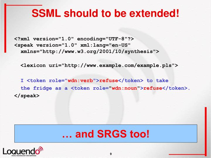 SSML should to be extended!