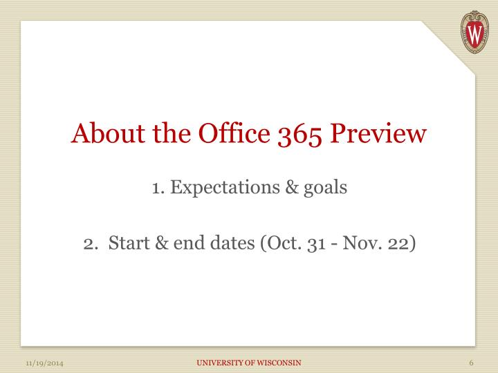 About the Office 365 Preview