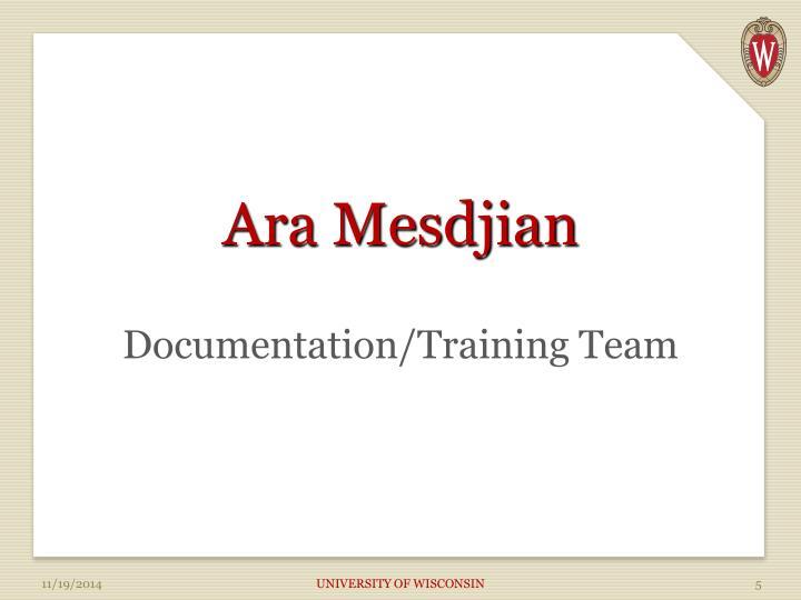Ara Mesdjian