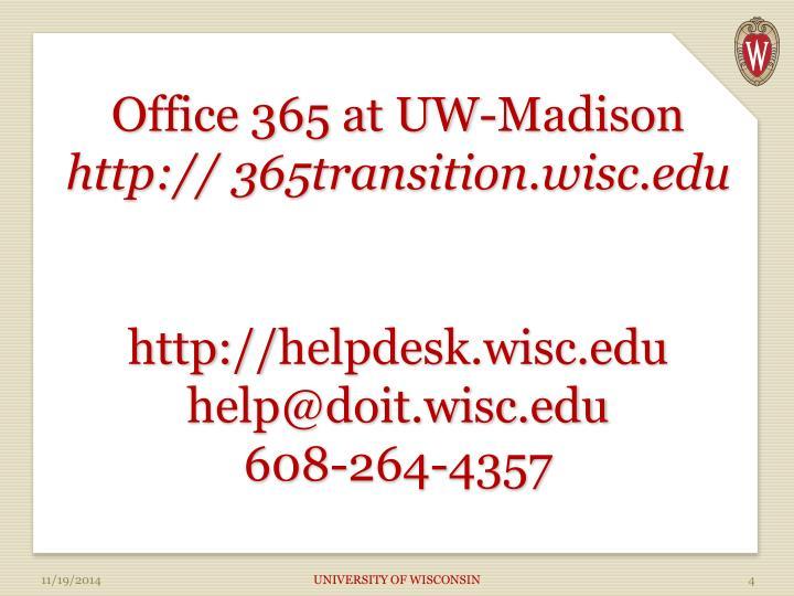 Office 365 at UW-Madison