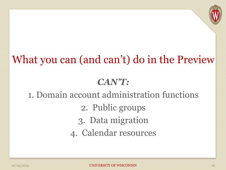 What you can (and can