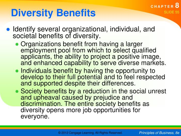 Diversity Benefits