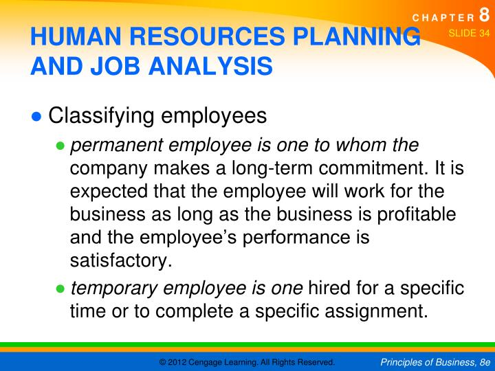 HUMAN RESOURCES PLANNING AND JOB ANALYSIS
