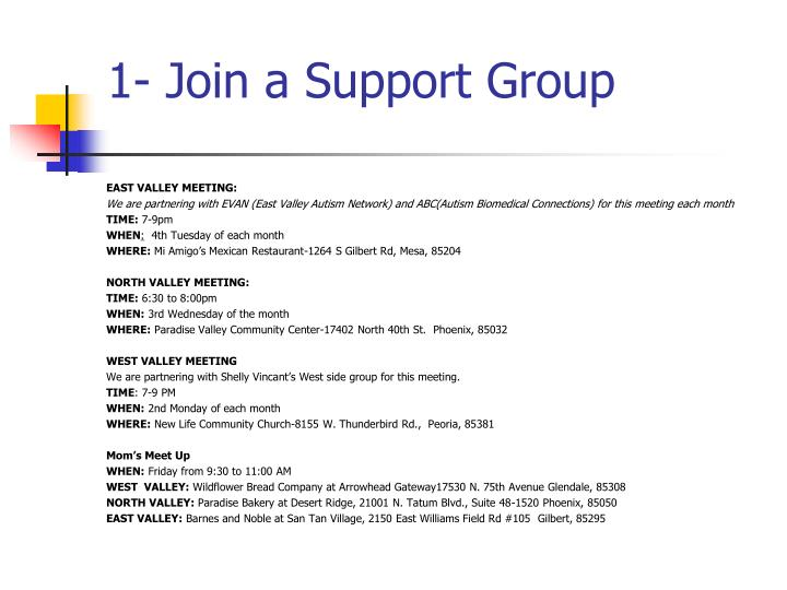 1 join a support group