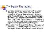 7 begin therapies