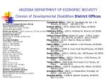 arizona department of economic security division of developmental disabilities district offices
