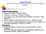 autism book list these are some recommended book resources for families affected by autism