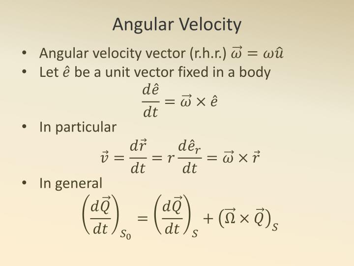 Angular velocity vector (