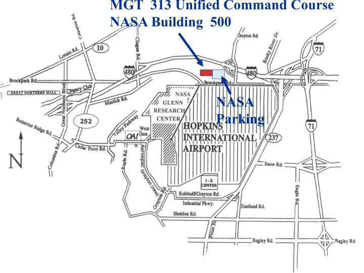 MGT  313 Unified Command Course                  NASA Building  500