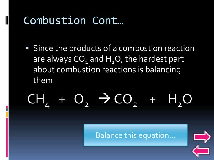 Combustion Cont…
