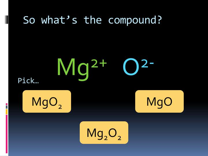 So what's the compound?