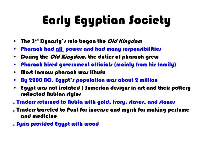 Early egyptian society