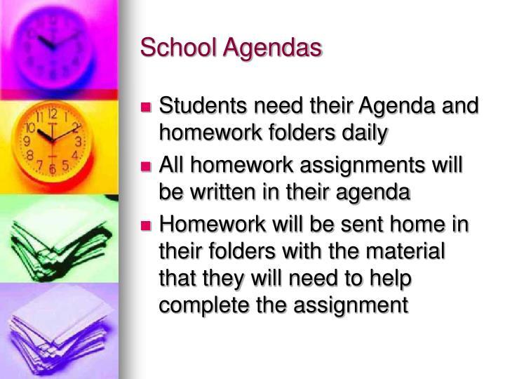 School Agendas