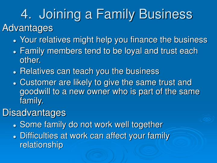 4.  Joining a Family Business