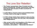 the lone star rebellion