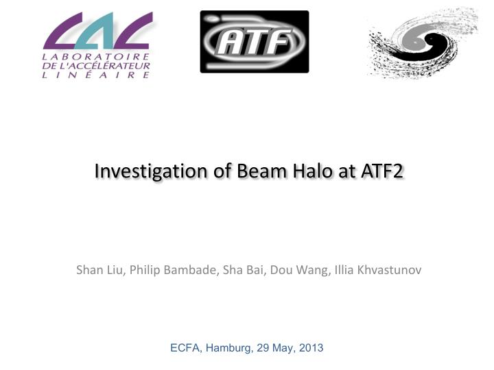 Investigation of beam halo at atf2