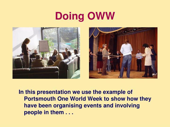 Doing OWW