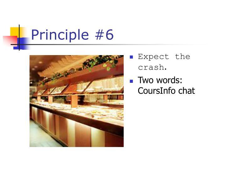 Principle #6