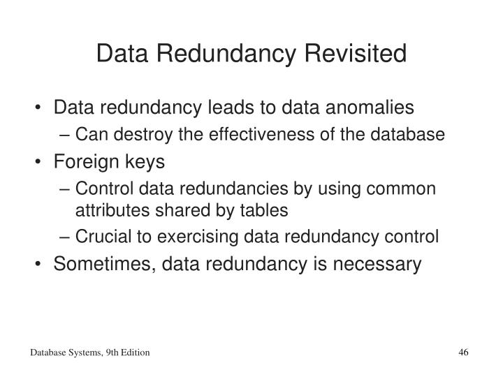 Data Redundancy Revisited