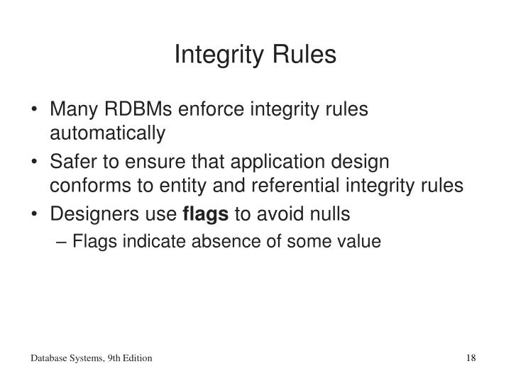 Integrity Rules