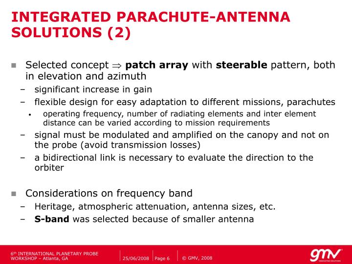 INTEGRATED PARACHUTE-ANTENNA SOLUTIONS (2)