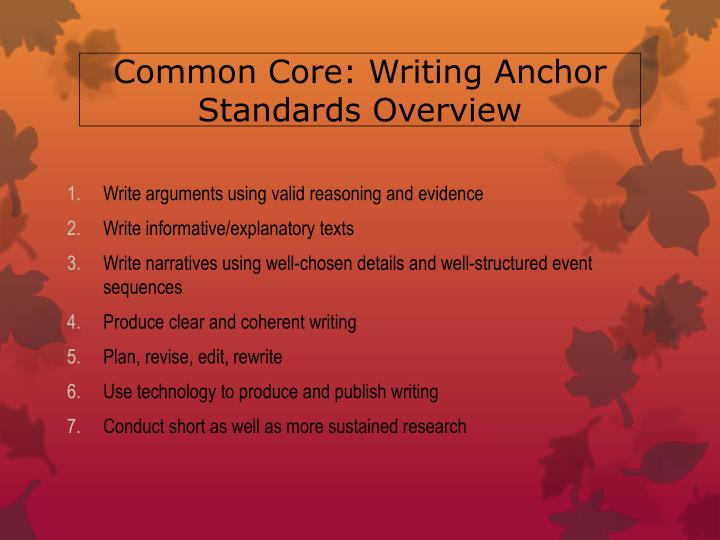 ccss writing anchor standards